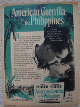 American Guerrilla in the Philippines (1950) - Vintage Trade Ad